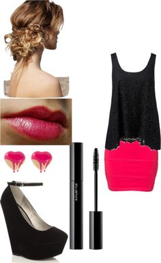 """Perfectly Pink"" by hannahmosquera ❤ liked on Polyvore"