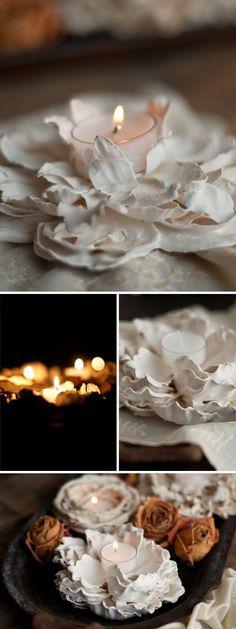 Was man aus Blumen nicht alles machen kann. Wunderschöne selbstgemachte Kerzenlichter. #DIY #Cozy #Herbst