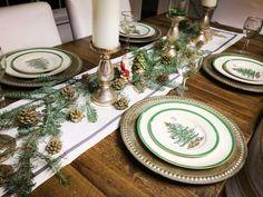 Mates 2 Renovate, Christmas table, DIY Christmas table, #Spode Dishes, Sparkley Table!