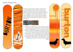 Burton Boards, By Using, Pattern Drawing, One Design, Initials, Vibrant, Colours, How To Make