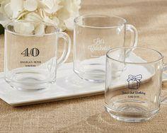 """Rise and Shine""  Glass Coffee Mug - Birthday"