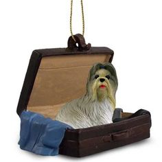 Shih Tzu Mixed Dog Tag Along Carrycase Pet Ornament