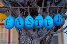 Pottery Barn Inspired Easter Eggs