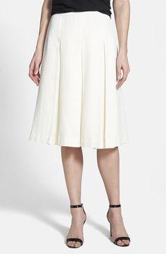 Halogen® Pleat Midi Skirt | Nordstrom