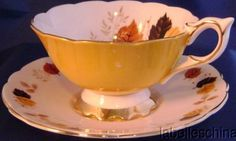 Royal Stafford teacup and Saucer leaf pattern