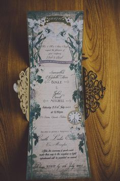 Midsummer Night's Dream inspired wedding invites  | Image by Ten21 Photography