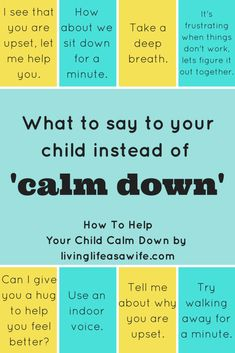 How To Help Your Child Calm Down – Living Life As a Wife : Great advice for moms and parents to help kids to calm down. Includes positive parenting advice and what to say to your child instead of calm down Kids And Parenting, Parenting Hacks, Parenting Classes, Parenting Plan, Parenting Styles, Peaceful Parenting, Foster Parenting, Gentle Parenting Quotes, Best Parenting Books