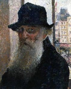 Retrato impresionista académico por Pissarro.