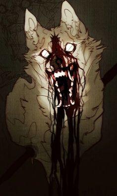 Mythical Creatures Art, Fantasy Creatures, Furry Art, Art Sinistre, Werewolf Art, Vent Art, Anime Wolf, Creepy Art, Dark Art