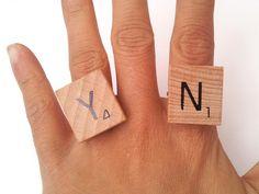 DIY Scrabble Ring
