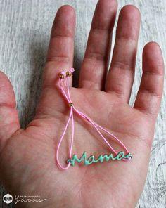 Pulsera mamá colorines con goma de EnLasManosDeYaras en Etsy