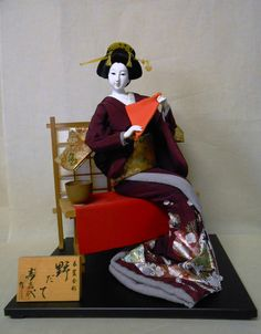 Japanese Vintage Kimono Geisha Doll 46cm Nodate Tea Ceremony   eBay