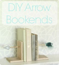 These DIY arrow bookends are fun and elegant at the same time. Perfect for a kids room or an adult space.  And there's a full tutorial so you can make your own.