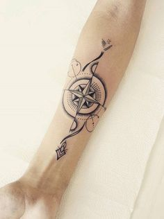 - 100 Awesome Compass Tattoo Designs