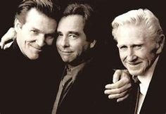 Actor Lloyd Bridges with actor sons Jeff Bridges and Beau Bridges.