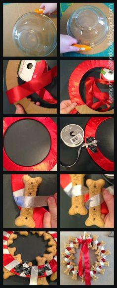 Today's DIY project is a Dog Bone Wreath. This makes a great gift for those dog lovers in your life.     Supplies:   Cardboard   Cuttin...