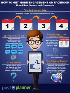 Jak zdobyć większe zaangażowanie fanów na #Facebook - #infografika