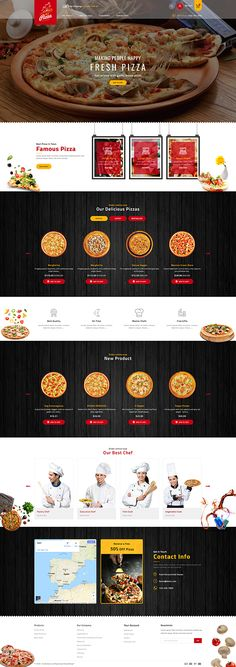 Stationery Printing, Stationery Design, Online Themes, Food Web Design, Pizza House, Website Themes, Website Designs, Restaurant Themes, Cool Themes