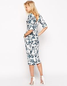 Enlarge ASOS TALL Garden Party Floral Wiggle Dress