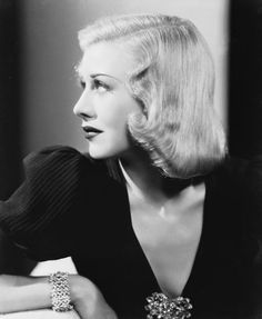 Ginger Rogers, best known for dancing alongside Fred Astaire, is one of classic Hollywood's most beautiful stars. In this photo from Rogers looks elegant in a simple-but-plunging black top accessorized with a jeweled brooch and bracelet. Glamour Hollywoodien, Old Hollywood Glamour, Golden Age Of Hollywood, Vintage Hollywood, Hollywood Stars, Classic Hollywood, Hollywood Jewelry, Fashion Glamour, Hollywood Icons