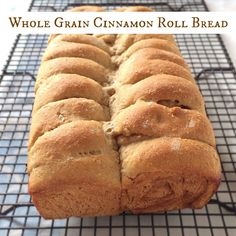 Whole Grain Cinnamon Roll Bread - a bakery treat meets whole wheat homemade bread!