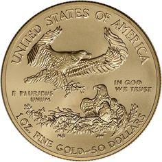 2015 American Gold Eagle (1 oz) $50 BU U.S. Mint. Obverse. Please go to www.coincollectorguides.com to press on link. Thank you.