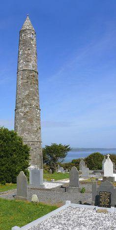 Photograph - Ardmore Round Tower - Ireland by Mike McGlothlen , Waterford Ireland, Round Tower, Dublin, Seaside Resort, Saint Patrick, Republic Of Ireland, Emerald Isle, Thing 1, Ireland Travel