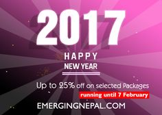 Yesterday is gone. Tomorrow has not yet come. We have only today. Let's Travel . Happy New Year 2017! : Nepal