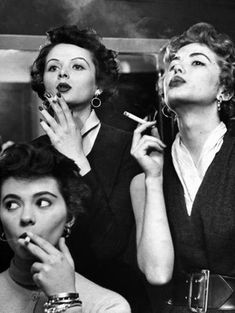Before the 1920's, smoking among women was not acceptable. Although when the flappers came into play in the northern parts of the United States, smoking among women became socially acceptable. This was something that also went along with drinking alcohol, partying, and sexual experimentation.