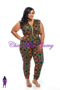 Low Stock Alert - 1 size 3x Left Plus Size Jumpsuit in Navy, Orange and Green at http://chicandcurvy.com/jumpsuits/product/9878-new-plus-size-jumpsuit-in-navy-orange-and-green-1x-2x-3x?search=green