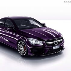 A very unique color choice for the 2014 CLA... can't say I've seen this on too many cars.