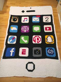 Crochet iPhone C2C Graphgan