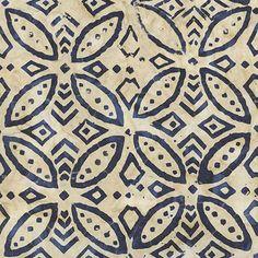 Cadet Flower Batik Timeless Treasure 1yd by CheBellaBatiks on Etsy