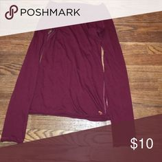 Abercrombie & Fitch S Maroon Shirt Bought from another Posher.I only wore it twice.It's in good condition,no rips or stains. Abercrombie & Fitch Tops Tees - Long Sleeve