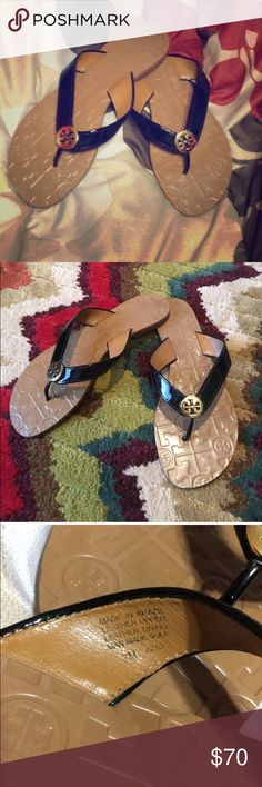 Tory Burch sandals! Re poshing because they didn't fit me 😭😭😭 seriously I really loved these! They are authentic and the only flaw is the bottoms, everything else is like new! No scratches, no indentions. I am selling at a price that gives me my money back after Poshmark gets their 20% cut. So price is FIRM! Tory Burch Shoes Sandals