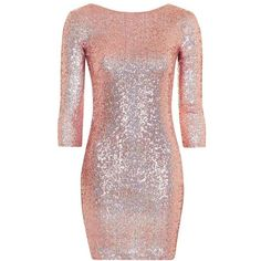 Women's Topshop Sequin Body-Con Minidress ($95) ❤ liked on Polyvore featuring dresses, bodycon mini dress, body con dress, short bodycon dresses, short red dress and sequin dresses
