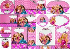 Barbie Princess Charm School: Free Printable Invitation and Candy Bar Labels.