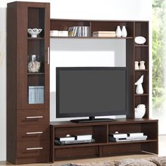 Featuring open shelves for storage or display, this Techni Mobili entertainment center TV stand is the perfect pick for your home. Furniture, Colorful Outdoor Furniture, Tv Stand And Entertainment Center, Tv Wall Design, Storage Entertainment Center, Ikea Outdoor Furniture, Tv Room Design, Wall Tv Unit Design, Tv Wall Decor