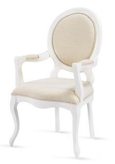 Cadeira provençal medalhão com braços