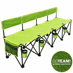 GoTeam Pro 4 Seat Portable Folding Team Bench Green Picnic Baskets for sale online Outdoor Seating, Outdoor Tables, Picnic Baskets For Sale, Folding Beach Chair, Composite Adirondack Chairs, Camping Furniture, Lawn Chairs, Curtains For Sale, Beach Chairs