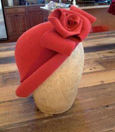 Easy Felt Roses Tutorial & Video--   So gonna make a Spring Hat!