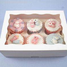 White 6 Cavity Window Cupcake Box With Insert