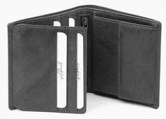 Mens Quality Soft Leather Wallet In Black By Golunski -Vintage Tri-Fold
