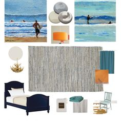 Blue & orange, yes! perfect colors for toddler boy room