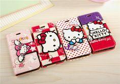 Süße Leder Hello Kitty Schutzhülle für iphone 6 und iphone 6 plus - Prima-Module.Com