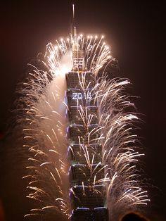 FIREWORKS~New Year 2014 Firework @ Taipei