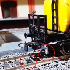 Used Hall sensor in the rail models
