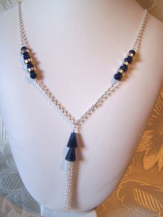 Swarovski Crystal Artemis Tassel Necklace by lindasoriginaljewels, $30.00