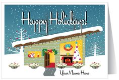 HOME > Holiday Greeting Cards > Realtor Holiday Cards > Mid-Century ...