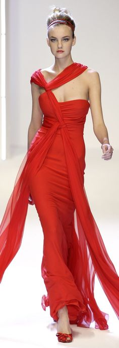 ~ Gorgeous Valentino strapless gown in my favorite color...RED! ~